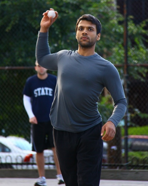 After struggling early, Gaurav settled in on the mound and held the Slams in check