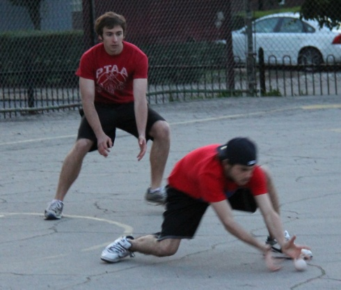 Playing in their first career EWL games, Harrison and Matt were effective in the field, even as darkness set in