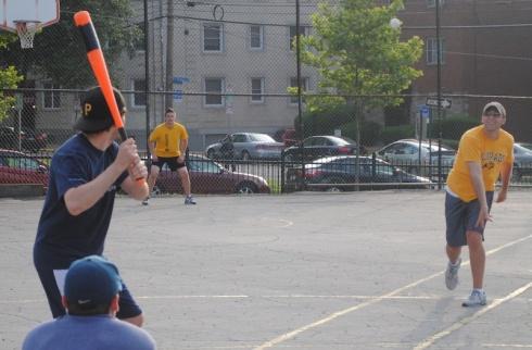 Joey's sixth inning triple off Mark led to the game-winning run