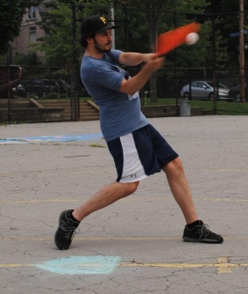 Joey had four hits, including 3 home runs, as Cookies & Cream beat the Ham Slams 8-5