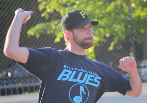 Guthrie, the 2013 EWL Pitch King, pitched a good game, but got no run support from the Cookies & Cream offense