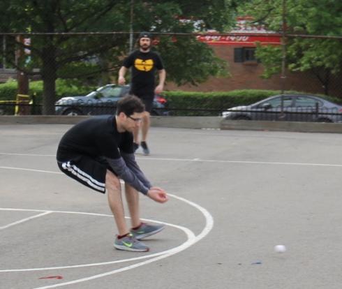 Cookies & Cream fielded well in week 1, here Jordan and Joey converge on a groundball in left field