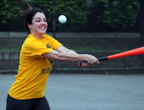 Cara went 2-for-4 with two singles in her first career EWL game