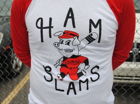 The Ham Slams became the first team in EWL history to wear officially made uniforms. The beautiful get-ups were designed by their own player, Andrew, and featured a mascot as well as individual names and numbers on the back of the jerseys.