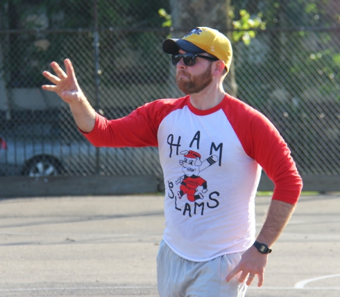 Tim pitched a great game and had a shutout through five innings before Cookies & Cream pulled ahead