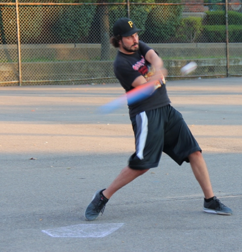 Joey went 3-for-4 with 3 doubles to lead Cookies & Cream, and was in control on the mound until the sixth inning